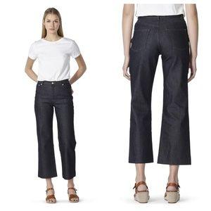 A.P.C. Sailor Indigo Wide Leg Jeans, size 28